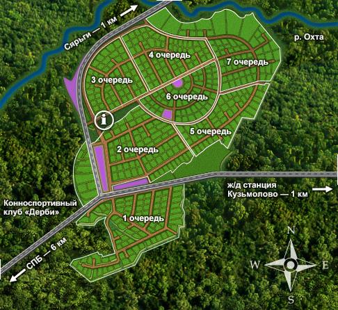 Генеральный план Охтинский парк