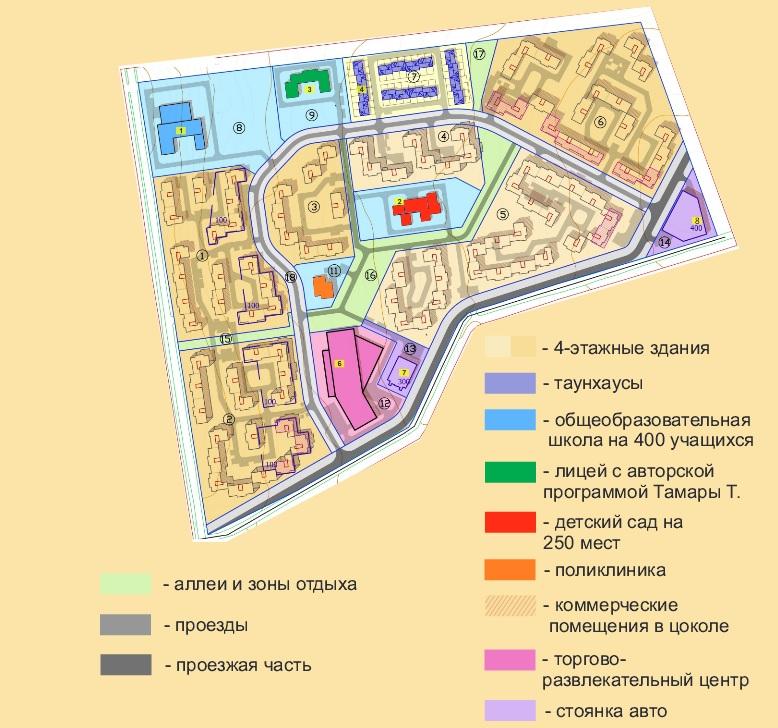Генеральный план Троицкая гора