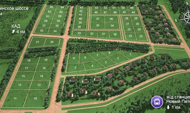 Генеральный план Новые кварталы Петергофа