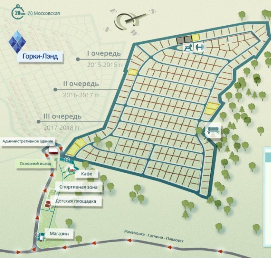 Генеральный план Горки-Лэнд 2