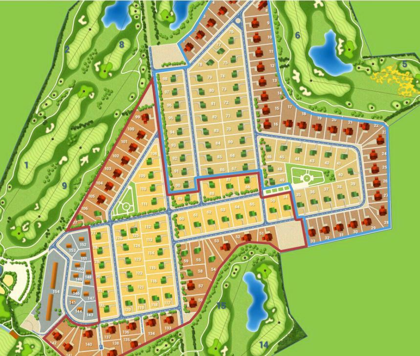 Генеральный план Strawberry Fields