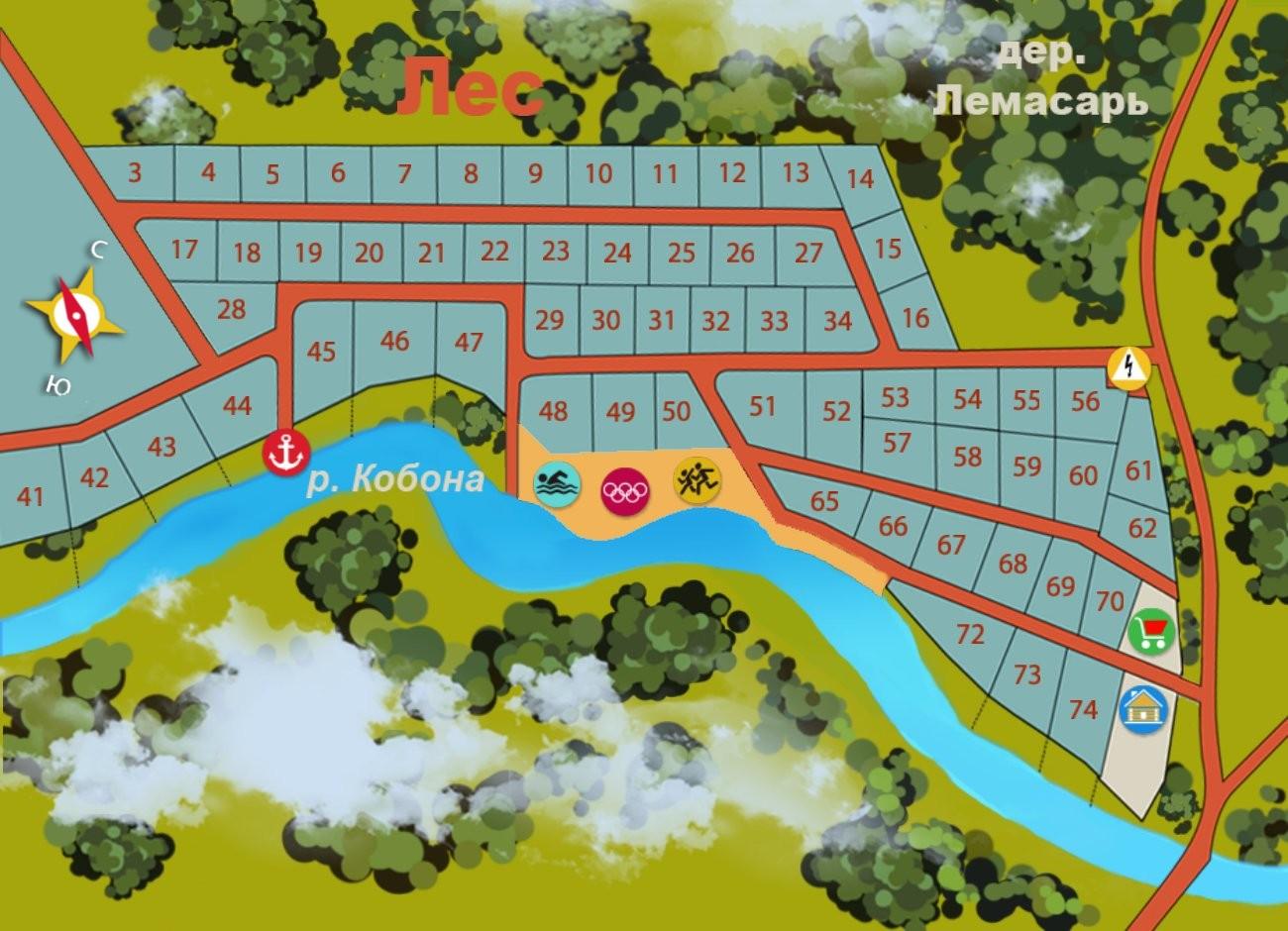 Генеральный план Ягодное (Кировский район)