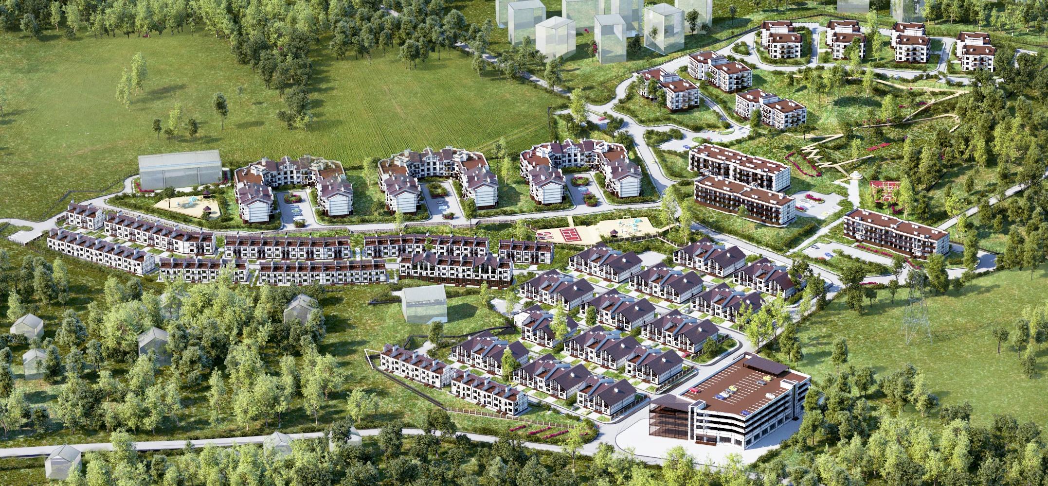 Генеральный план Альпийская деревня