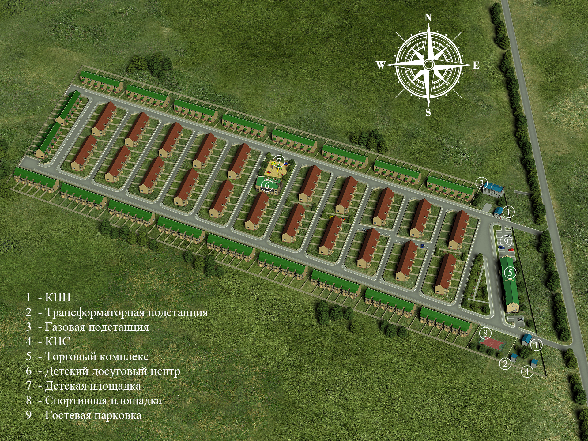 Генеральный план Есенин Village