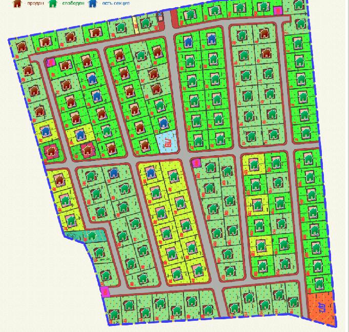 Генеральный план Солнечный посёлок
