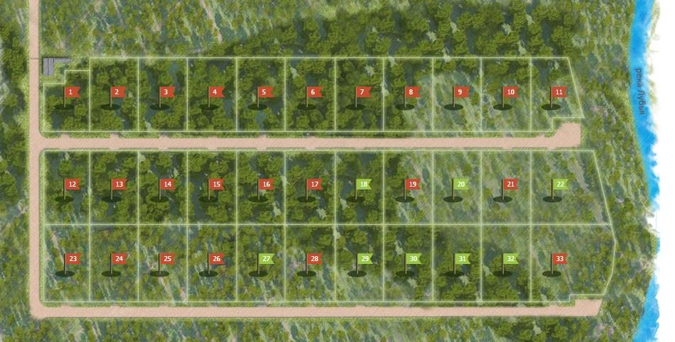 Генеральный план Ясная поляна