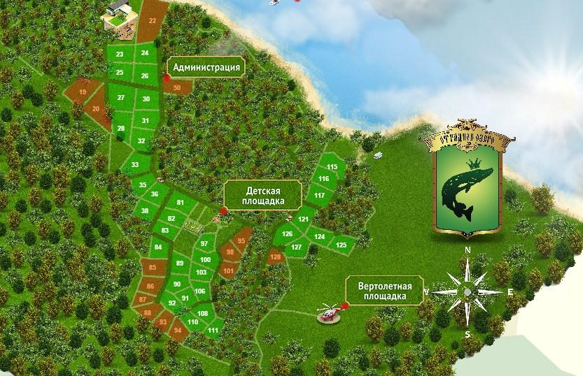 Генеральный план Озеро Отрадное