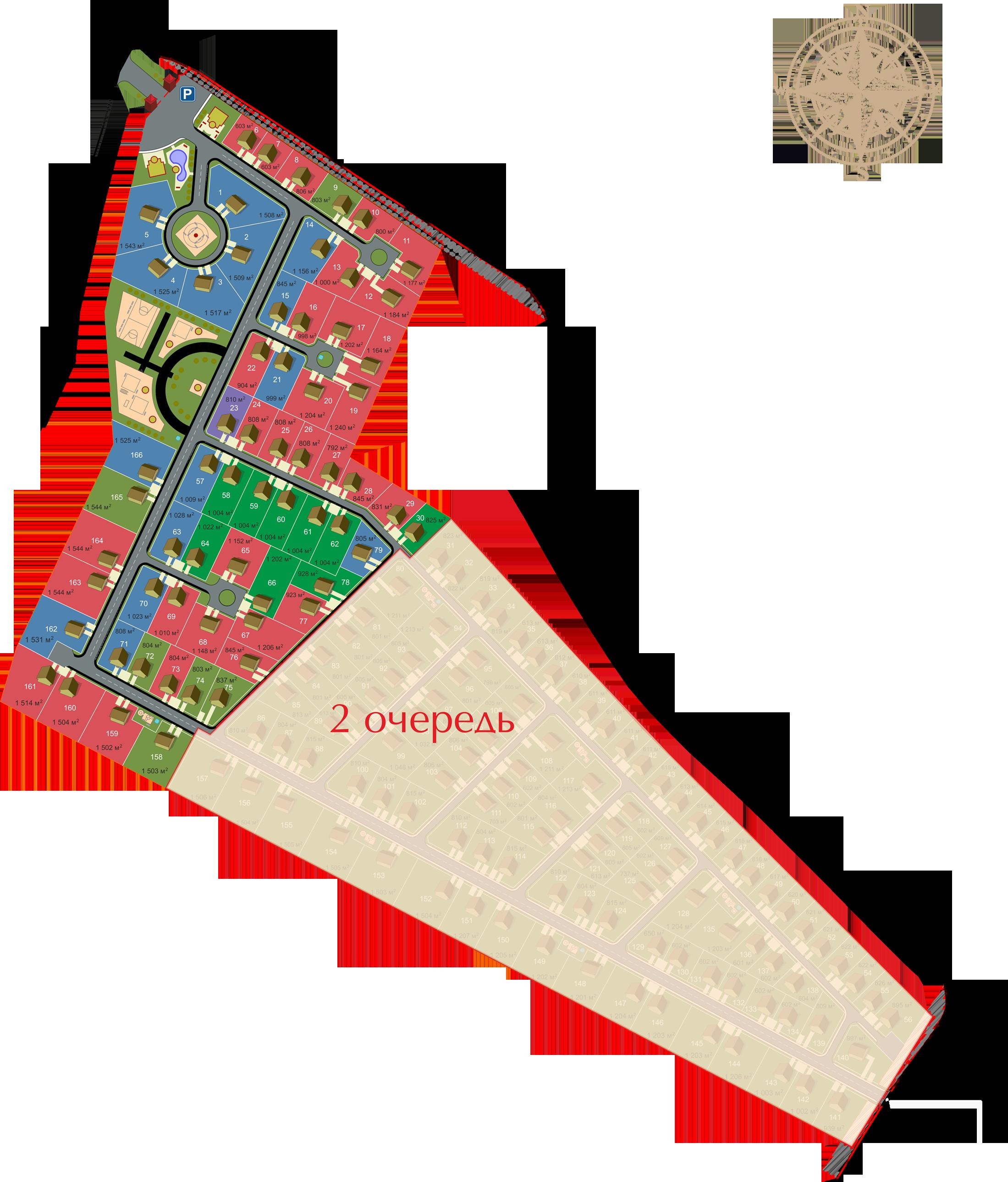 Генеральный план Имение Оржицкого