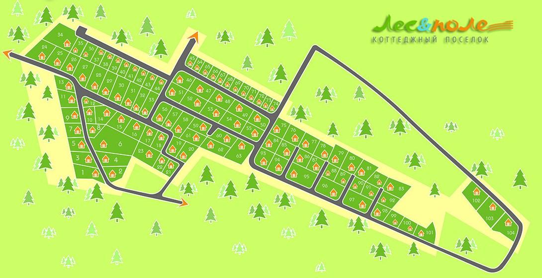 Генеральный план Лес-Поле