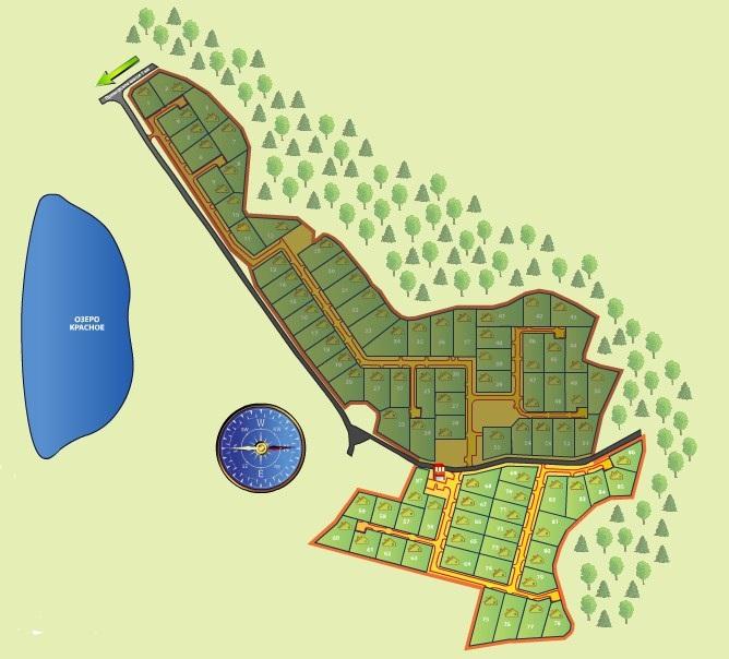 Генеральный план Красноозерное-2