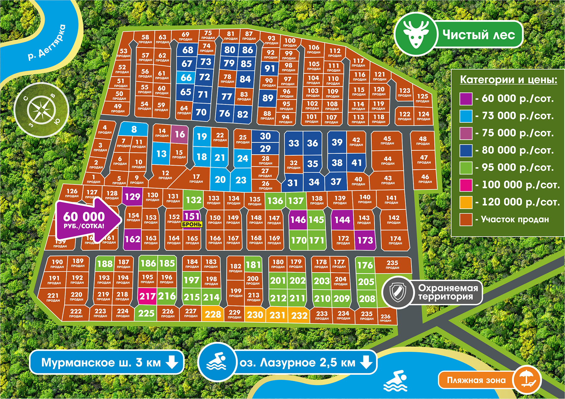 Генеральный план Березовка