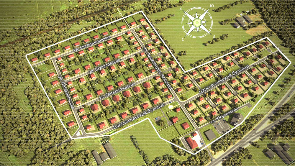 Генеральный план Гатчинские Поместья 2