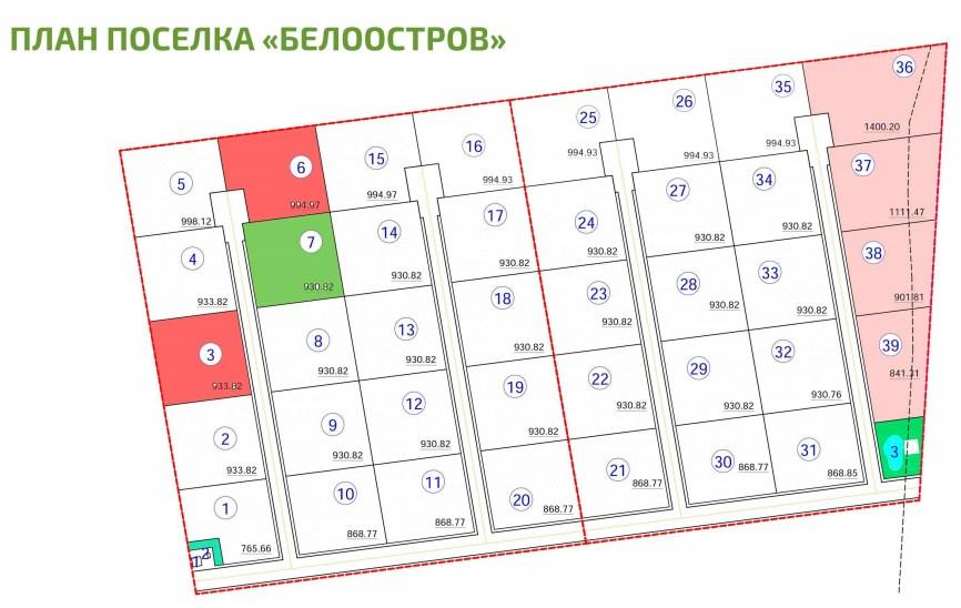 Генеральный план Белоостров