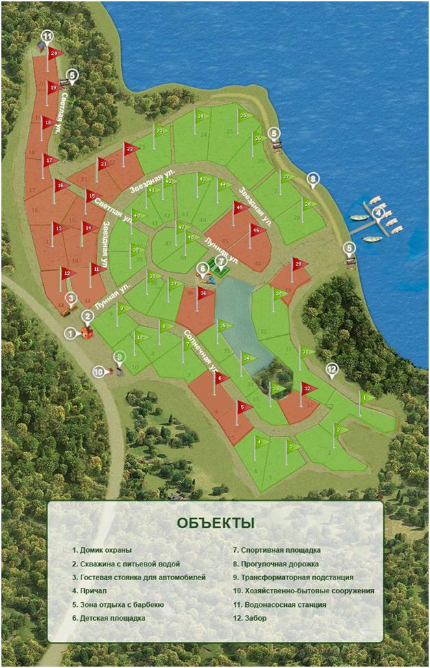 Генеральный план Озеро Лунное