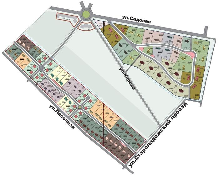 Генеральный план Зеленый квартал