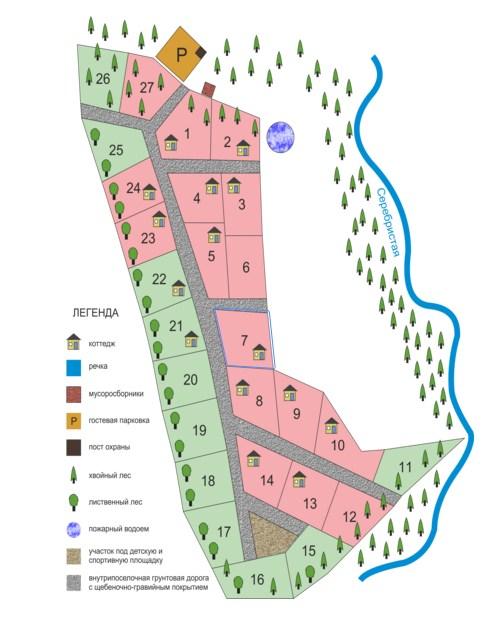 Генеральный план Радуга