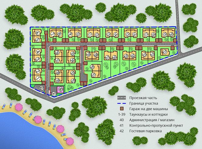 Генеральный план Петровские Просторы
