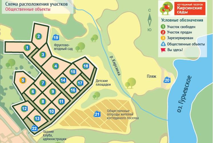 Генеральный план Кирсинские сады