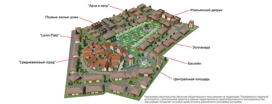 Генеральный план Прибрежный квартал