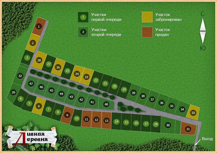 Генеральный план Дивная деревня
