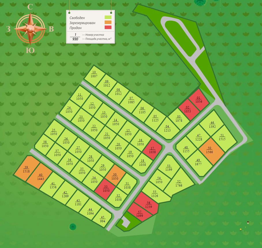 Генеральный план Демидовская усадьба