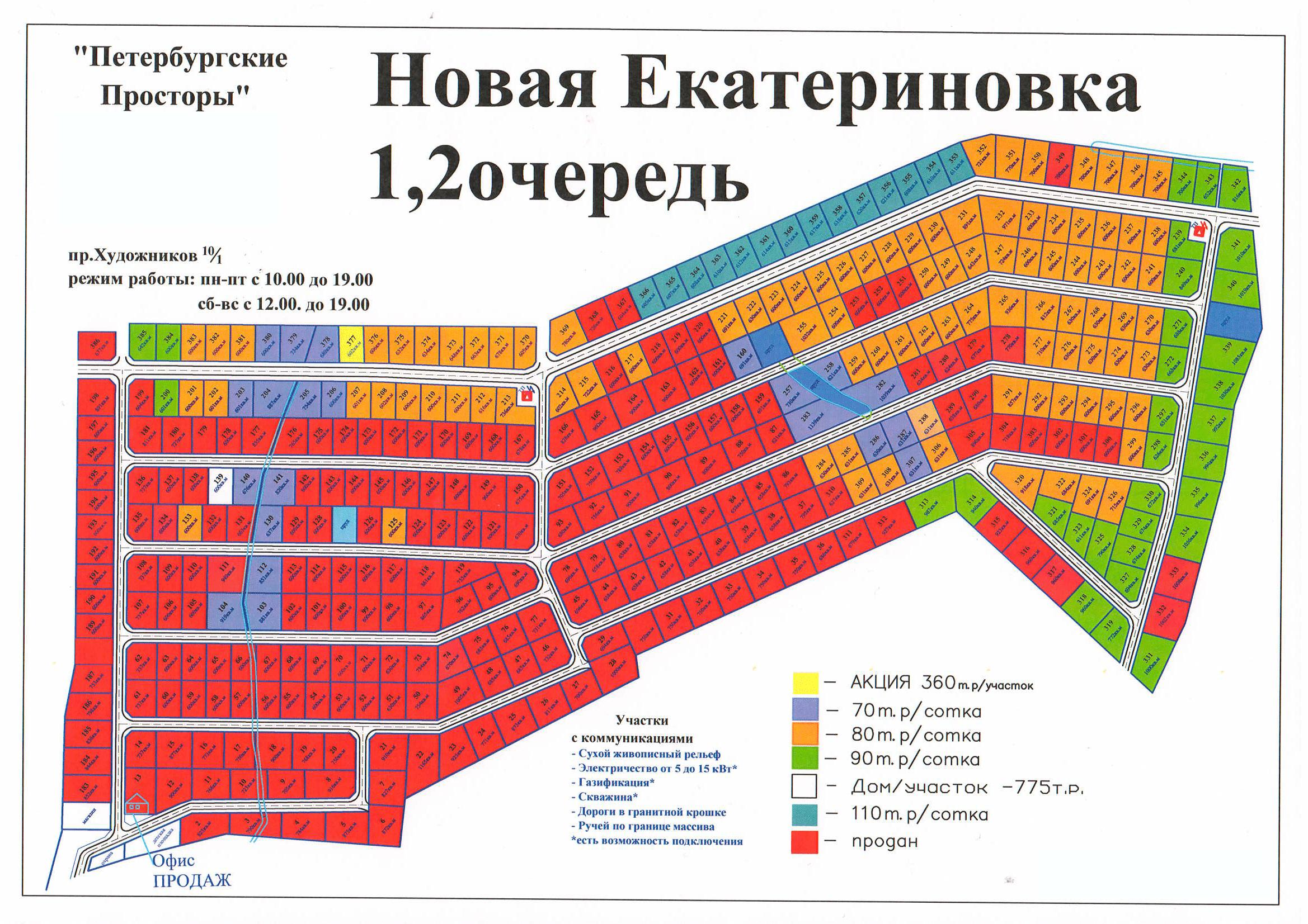 Генеральный план Новая Екатериновка
