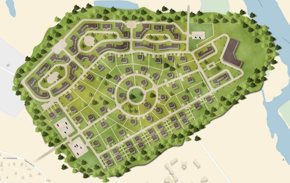 Генеральный план Лахта Парк
