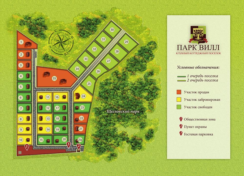 Генеральный план Парк Вилл