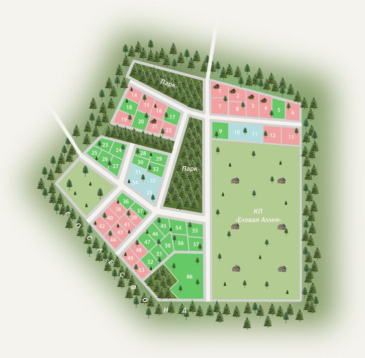 Генеральный план Raivola house
