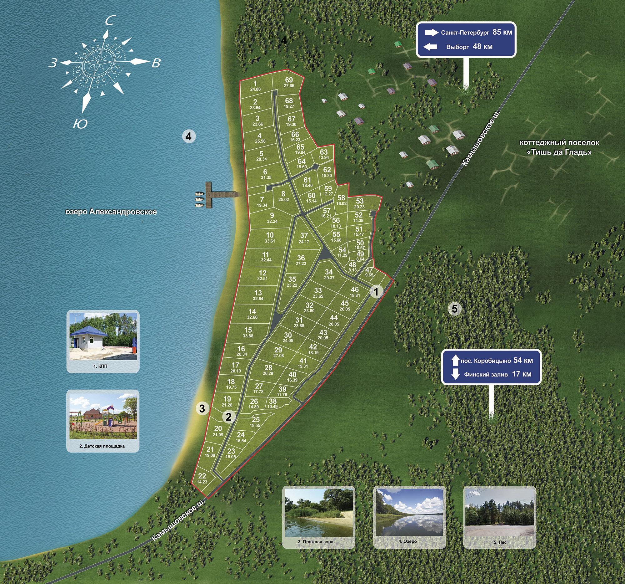 Генеральный план Aurinko Järvi