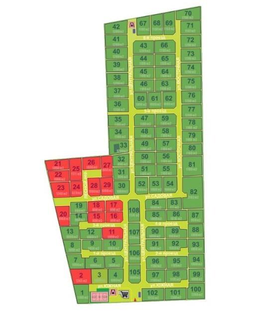 Генеральный план Лесная поляна