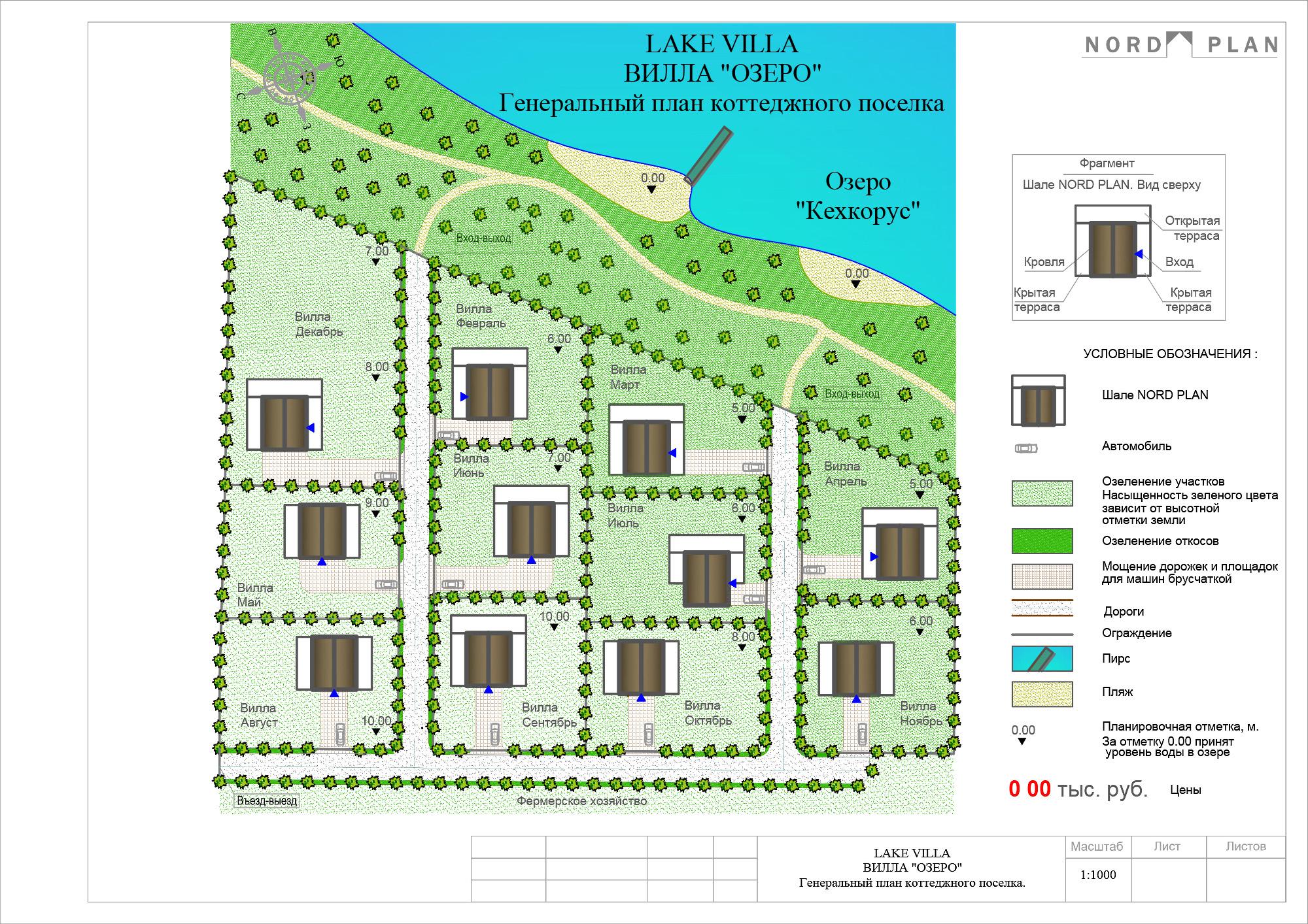 Генеральный план LAKE VILLA