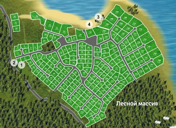 Генеральный план Сосновый пляж