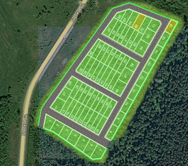 Генеральный план Город Сад