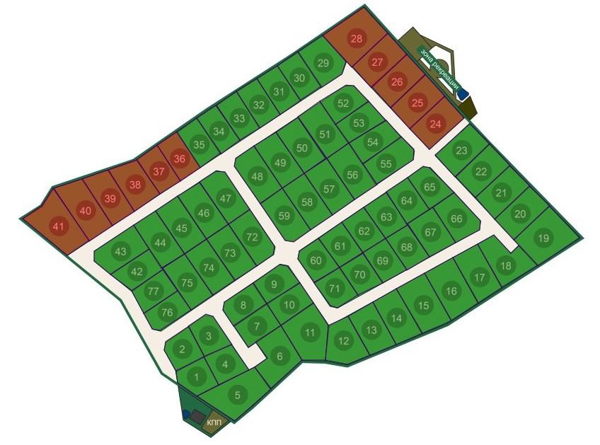 Генеральный план Дача у Игоры (Сосновские дачи)