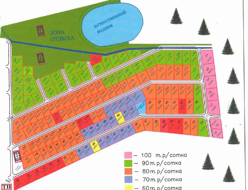 Генеральный план Грузино Парк