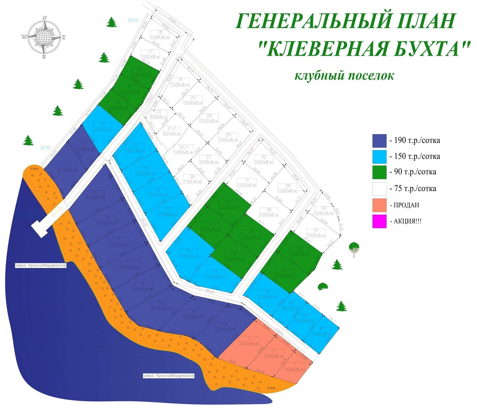Генеральный план Клеверная бухта