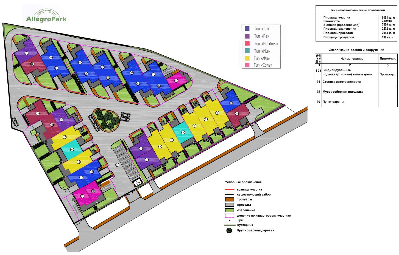 Генеральный план Аллегро-Парк