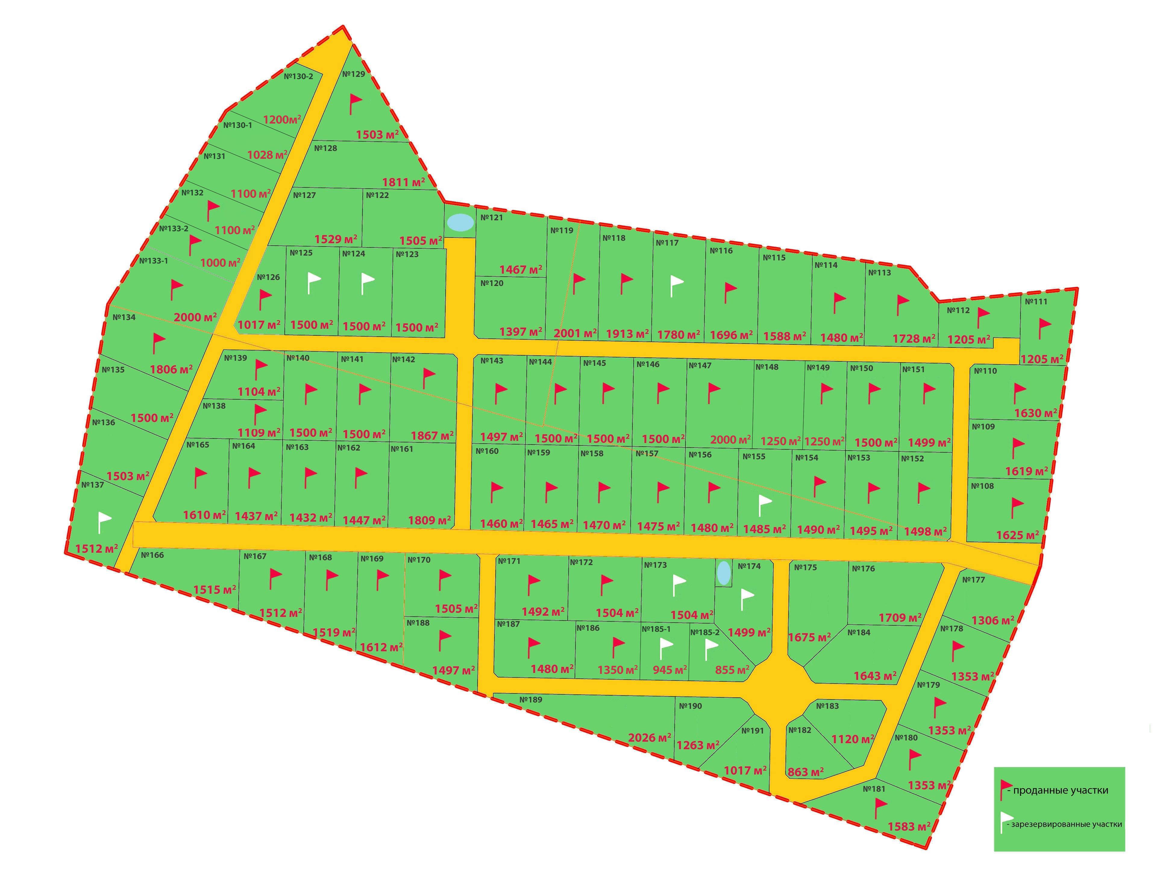 Генеральный план Ропшинская Долина