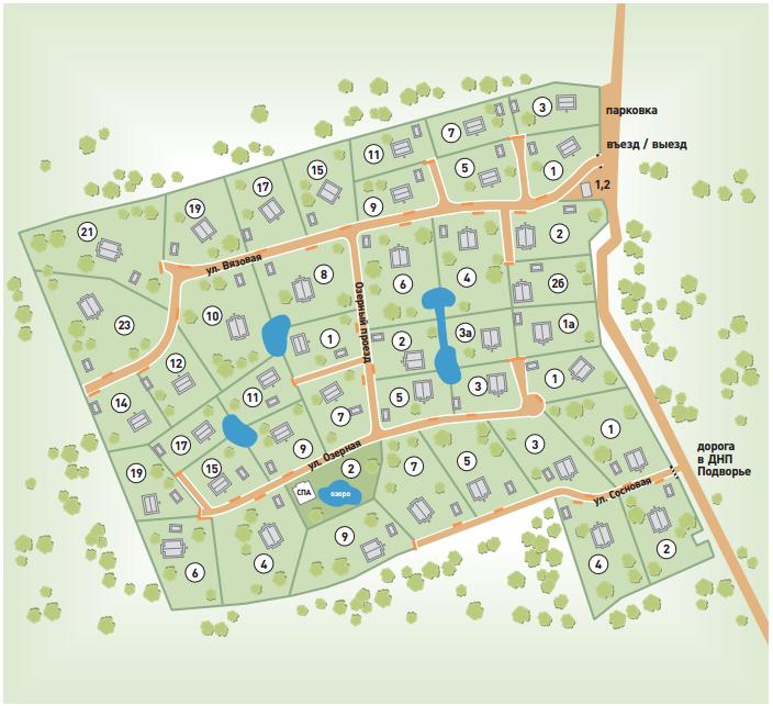 Генеральный план Osko-Village