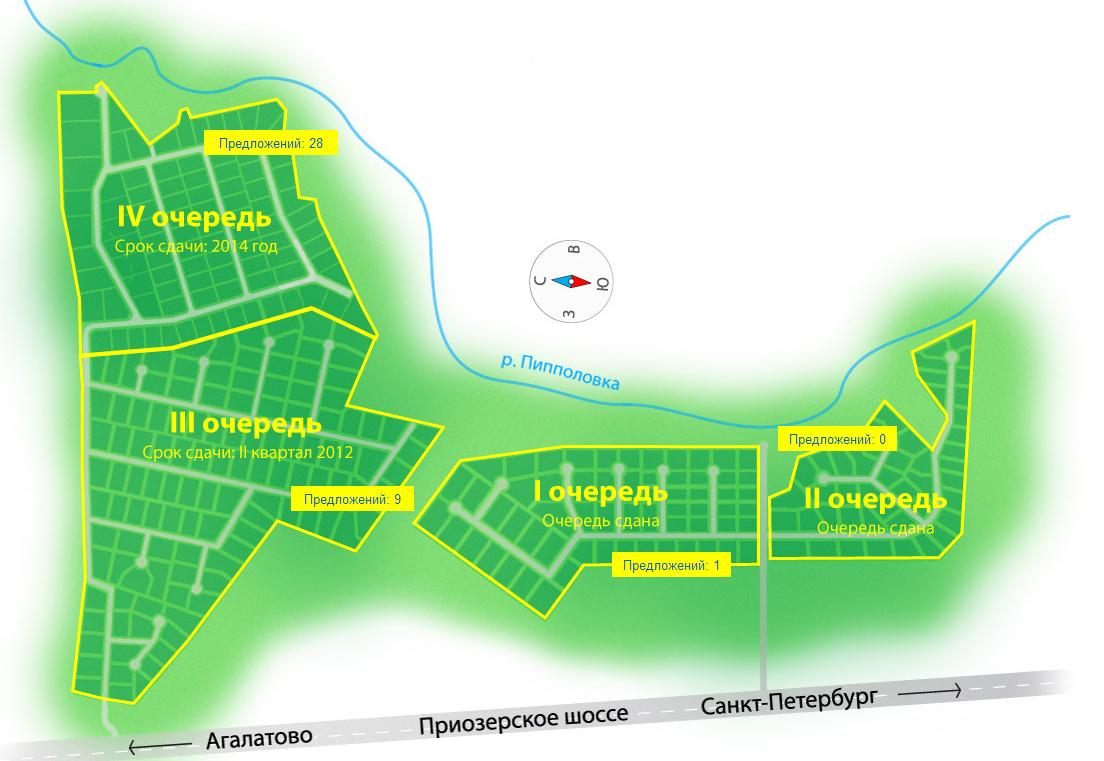 Генеральный план Киссолово