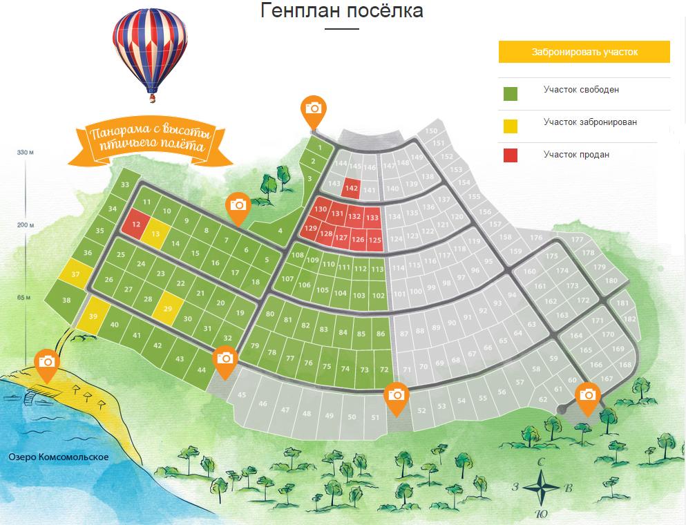 Генеральный план Соловьёвские дачи