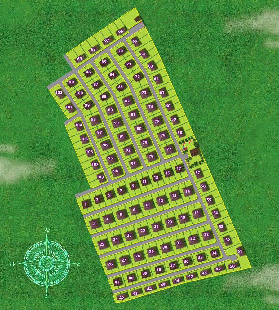 Генеральный план Медовая поляна