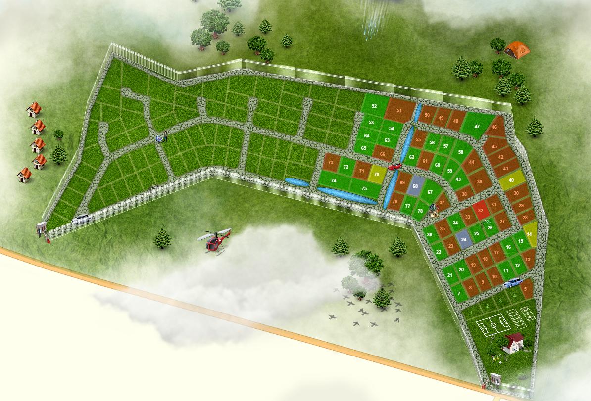 Генеральный план Изумрудный город