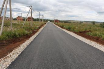В КП «Кавголовские холмы» завершили строительство центральной дороги