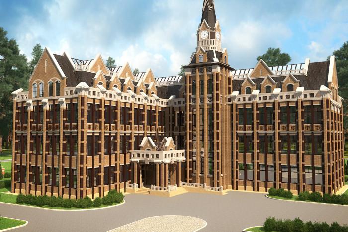 """В КП """"Ламбери"""" завершено строительство школы, похожей на Хогвардс"""