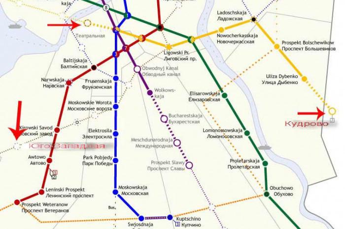 """В """"Кудрово"""" метро придет не раньше 2025 года"""